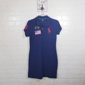 Ralph Lauren Sport Polo Dress Vintage sz LG